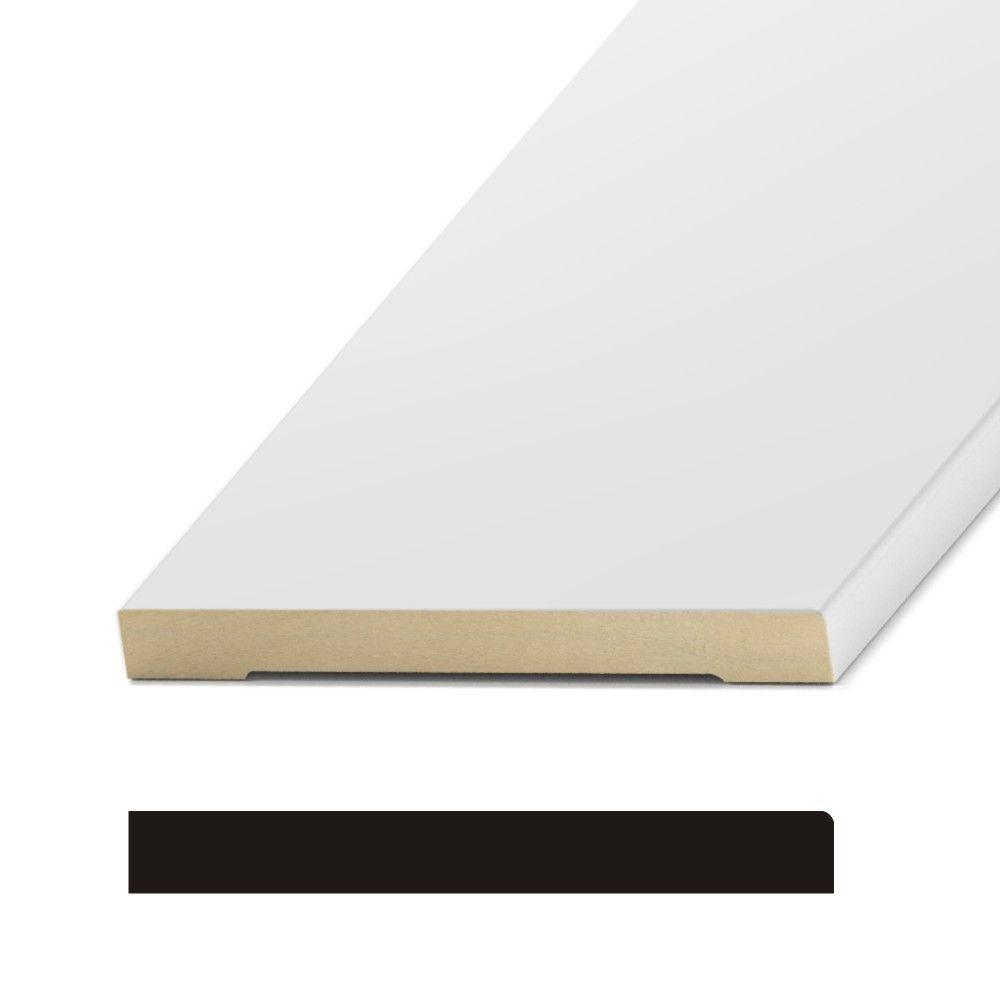 Round Edge 1/2 in. x 5-1/2 in. MDF Base Moulding-MDF206A - The Home ...