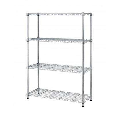 15 in. x 36 in. 4-Tier Wire Adjustable Steel Shelf Rack in Chrome