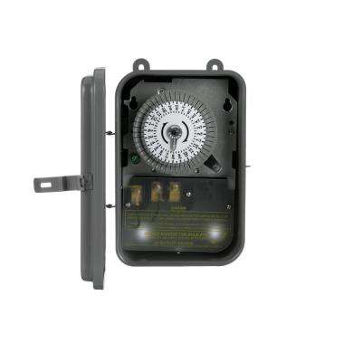 40-Amp 120-Volt SPST 24-Hour Mechanical Time Switch with Metal Outdoor Enclosure