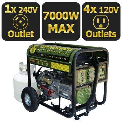 7,000/6,000-Watt Propane Gas Powered Electric Start Portable Generator