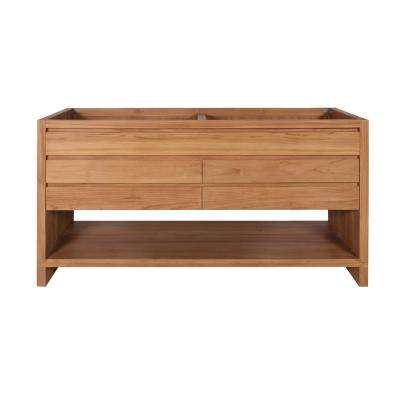 Kai 60 in. W x 21 in. D x 34 in. H Bath Vanity Cabinet Only in Natural Teak