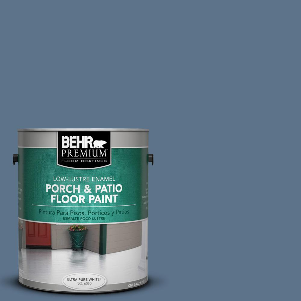 1 gal. #BXC-75 Saltbox Blue Low-Lustre Porch and Patio Floor Paint