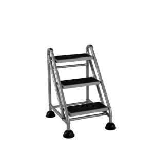 3-Step Rolling Step Ladder with 300lb Load Capacity  sc 1 st  The Home Depot & Cosco Rockford 3-Step Mahogany Wood Step Stool Ladder with 225 lb ... islam-shia.org