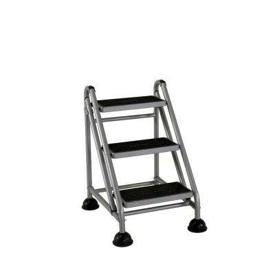 2.59 ft. 3-Step Rolling Step Ladder with 300lb Load Capacity