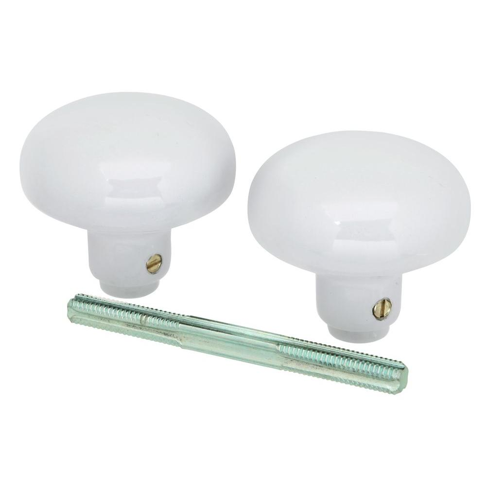 First Watch Security White Door Knob Set With Spindle