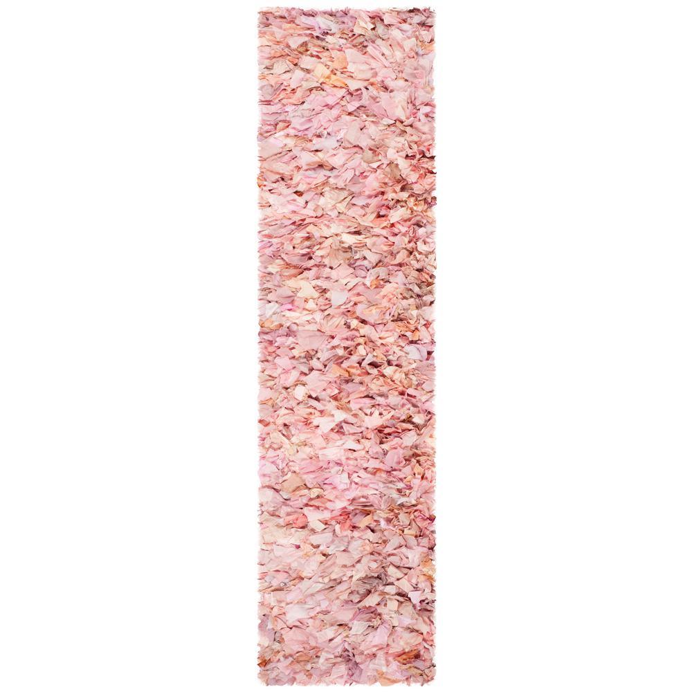 Rio Shag Ivory/Pink 2 ft. 3 in. x 6 ft. Runner