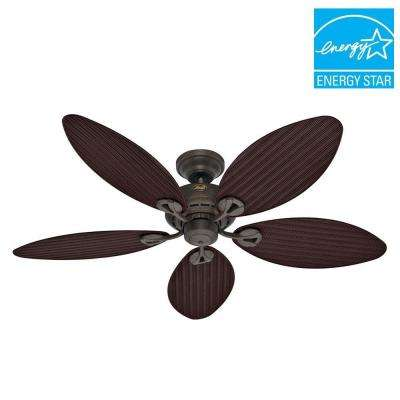 Bayview 54 in. Outdoor Provencal Gold Ceiling Fan