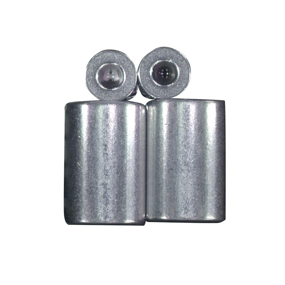 Lehigh 3/16 in. Zinc-Coated Aluminum Ferrule and Stop Set-7333S-12 ...