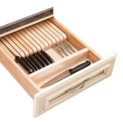 Natural Maple Knife Block Drawer Insert