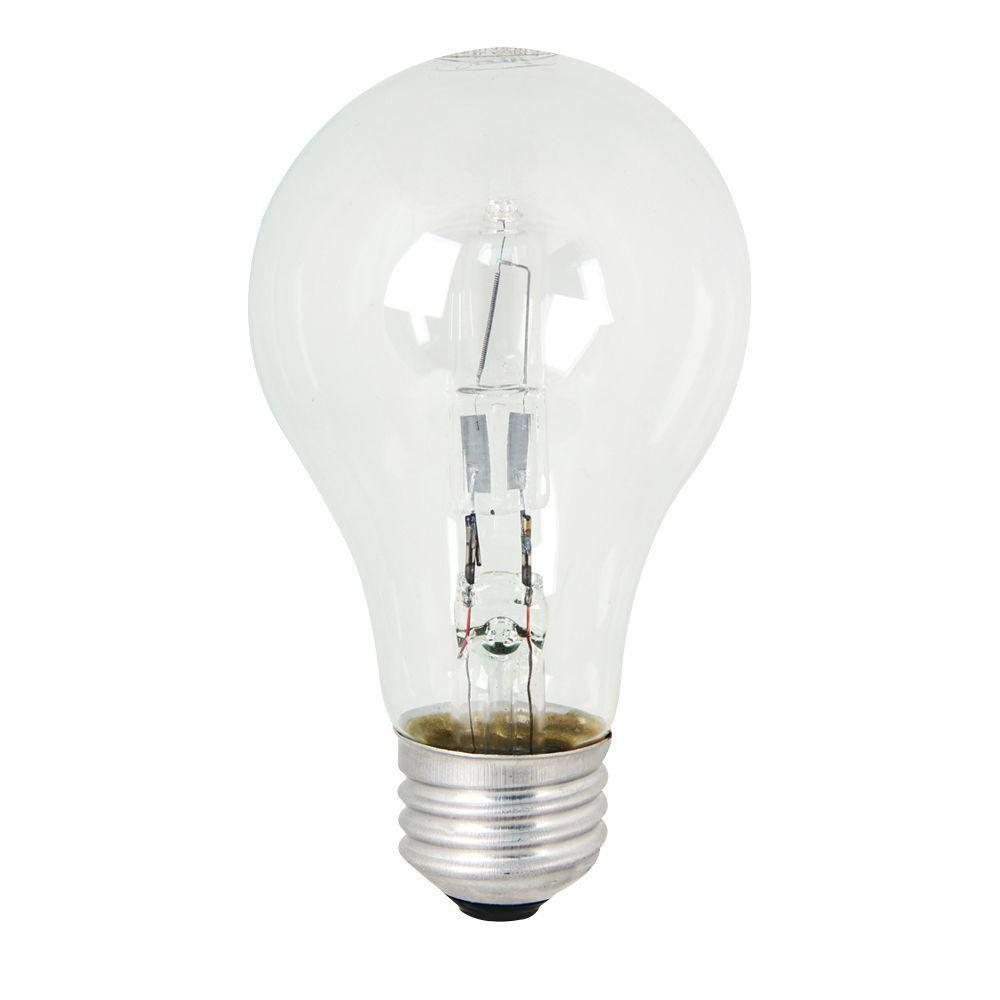 Energy Saving 100W Equivalent Halogen A19 Clear Light Bulb (48-Pack)