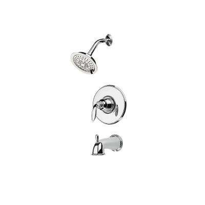 Avalon 1-Handle Tub and Shower Trim Kit in Polished Chrome (Valve Not Included)