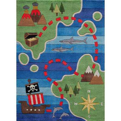 Lil Mo Whimsy Pirate Multi 8 ft. x 10 ft. Indoor Kids Area Rug