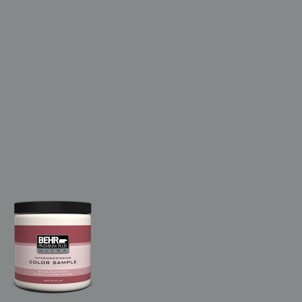 8 oz. #N460-5 Slate Rock Interior/Exterior Paint Sample