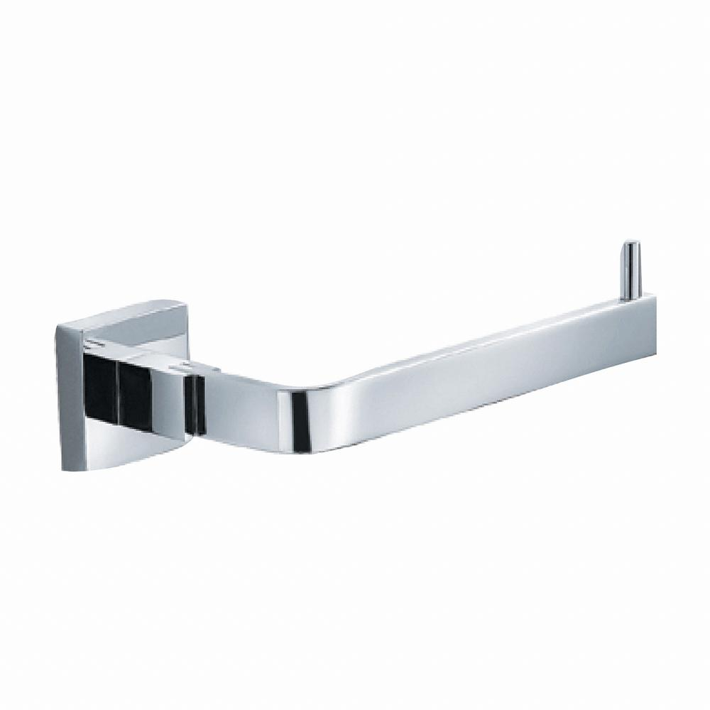 Aura Single Post Bathroom Tissue Holder without Cover in Chrome