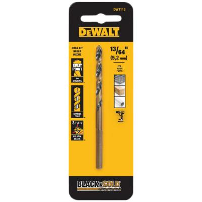 13/64 in. Black and Gold Split Point Drill Bit