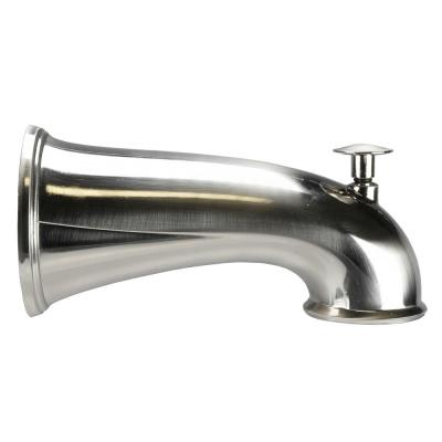 6 in. Decorative Tub Spout in Brushed Nickel