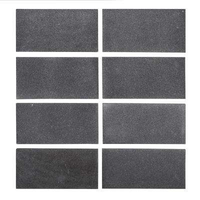 Basalt Gray 3 in. x 6 in. Honed Basalt Floor and Wall Tile (1 sq. ft. / pack)