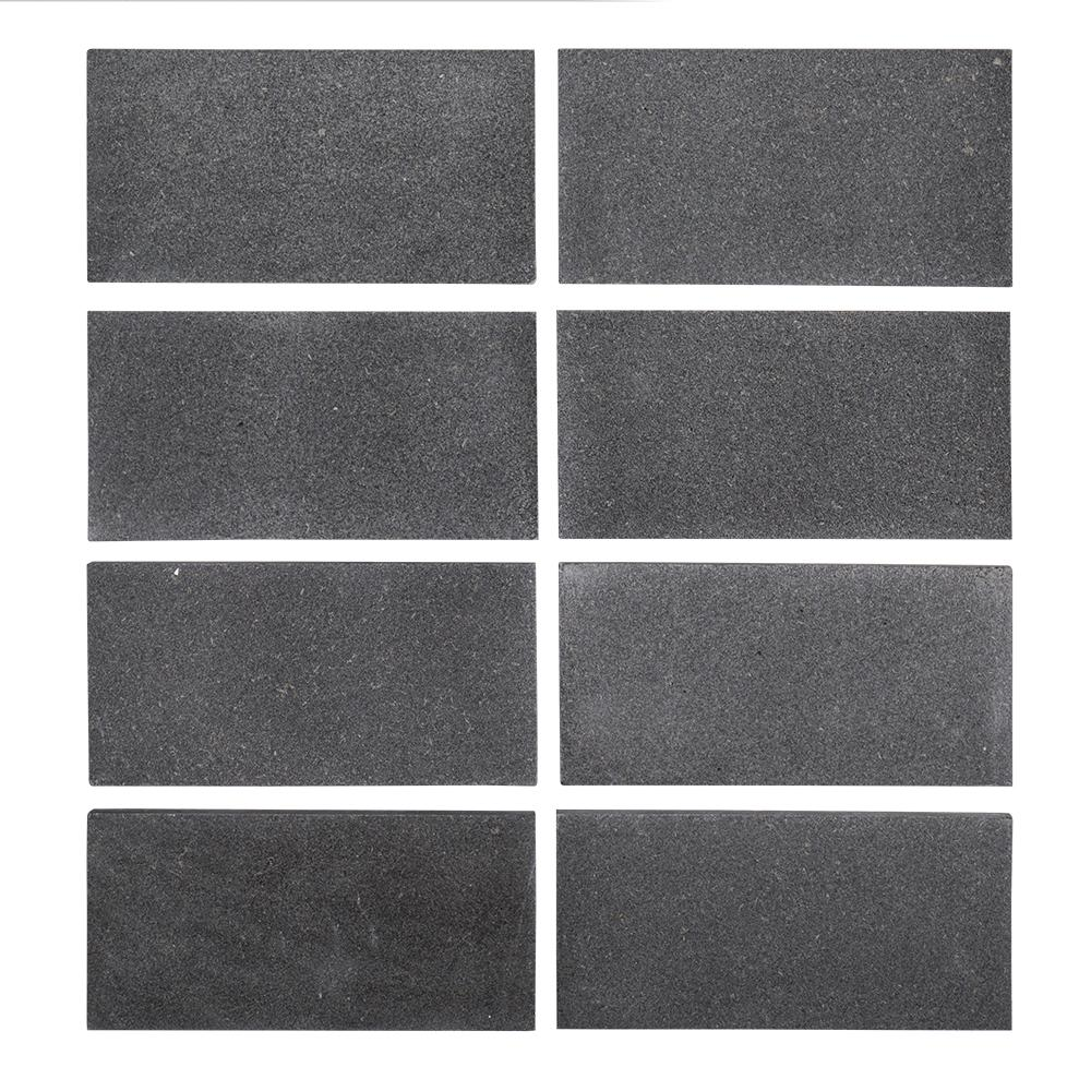 3 in. x 6 in. Honed Basalt Field Wall Tile (8-pieces