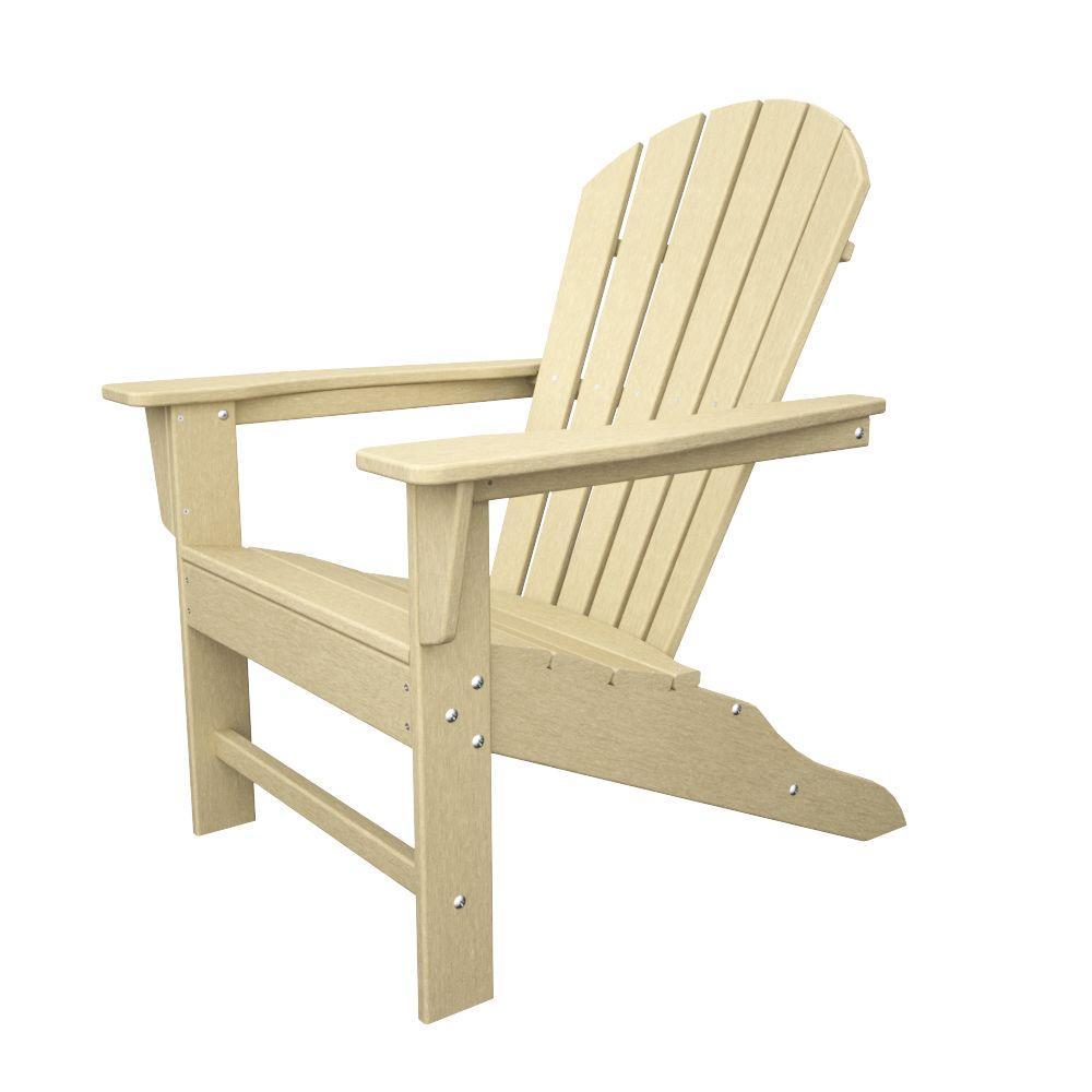 Polywood South Beach Sand Plastic Patio Adirondack Chair