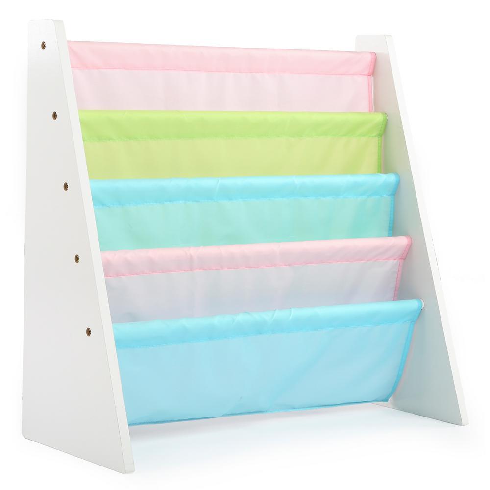 Pastel Collection White/Pastel Book Rack Storage Bookshelf