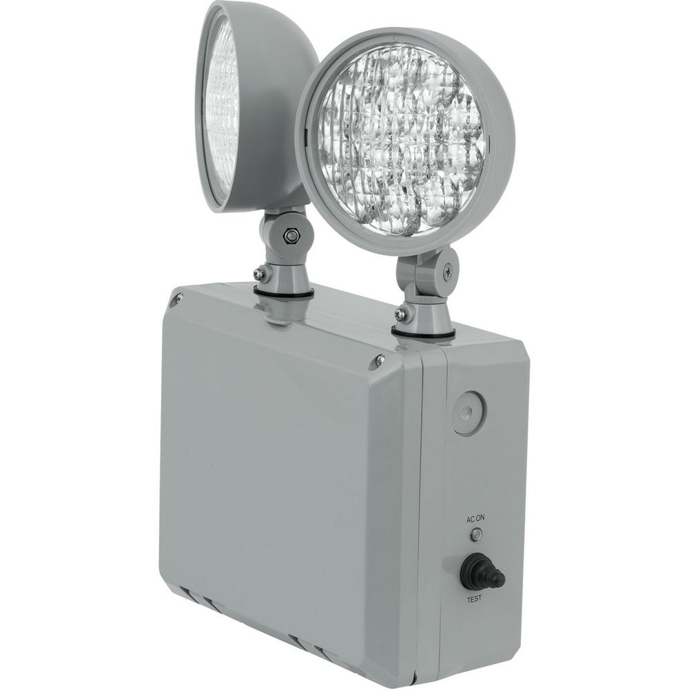 PE2WL Collection 0-Watt Gray Integrated LED Emergency Light