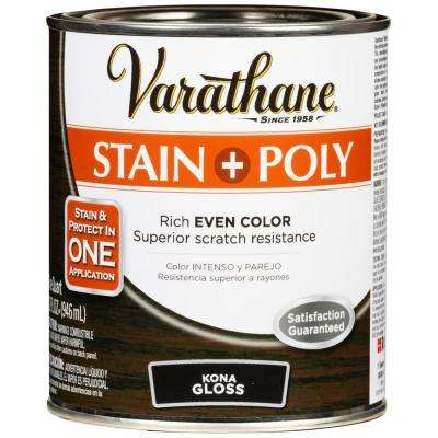 1 Qt. Kona Gloss Water-Based Interior Wood Stain and Polyurethane (2-Pack)