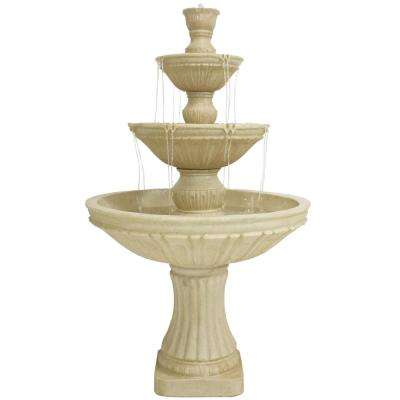 55 in. 3-Tier Outdoor Classic Designer Tiered Water Fountain (11-Pieces)