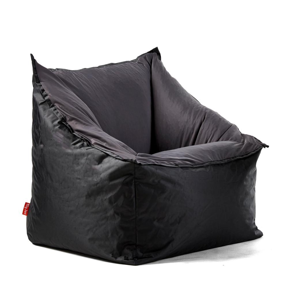 Cool Slalom Chair Black Dark Grey Smartmax And Spandex Bean Bag Pabps2019 Chair Design Images Pabps2019Com