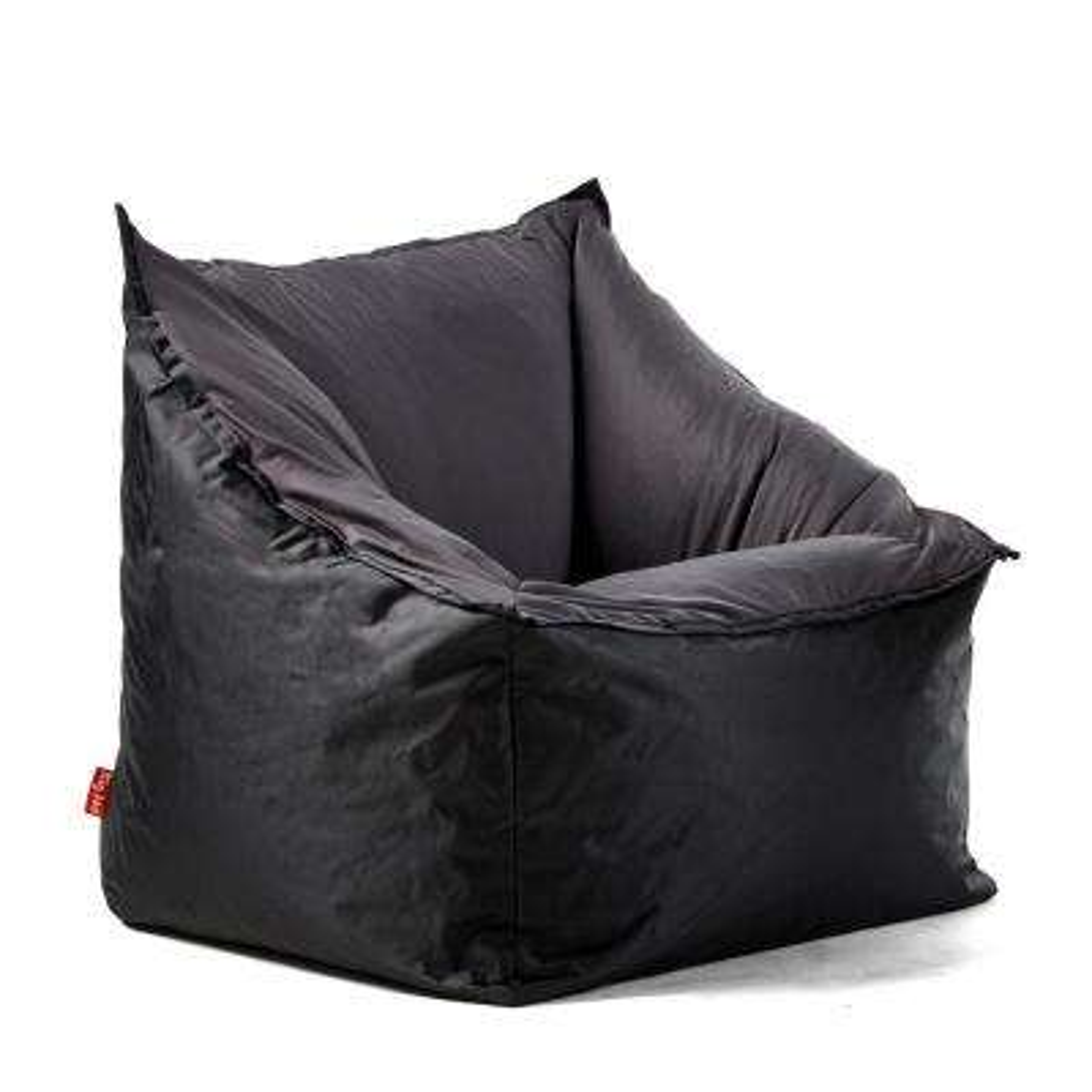 Slalom Chair Black/Dark Grey SmartMax and Spandex Bean Bag