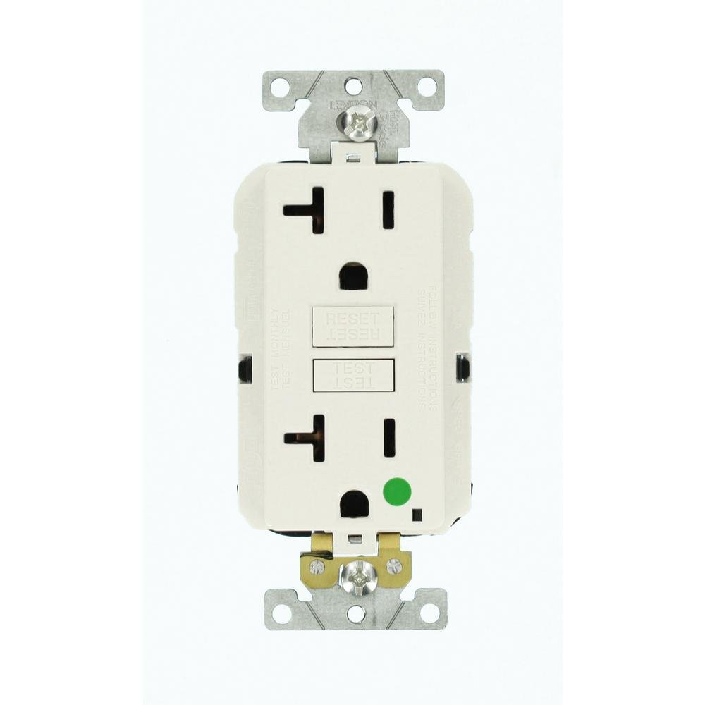 Leviton 20 Amp Lev Lok Modular Wiring Device Smartlockpro Hospital A Gfci Receptacle Grade Extra Heavy Duty