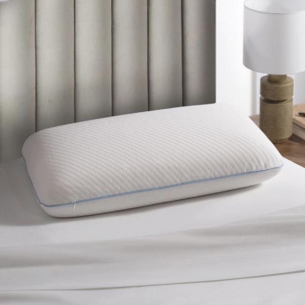 Plush Touch Foam Standard Pillow With Removable Tencel Knit Cover
