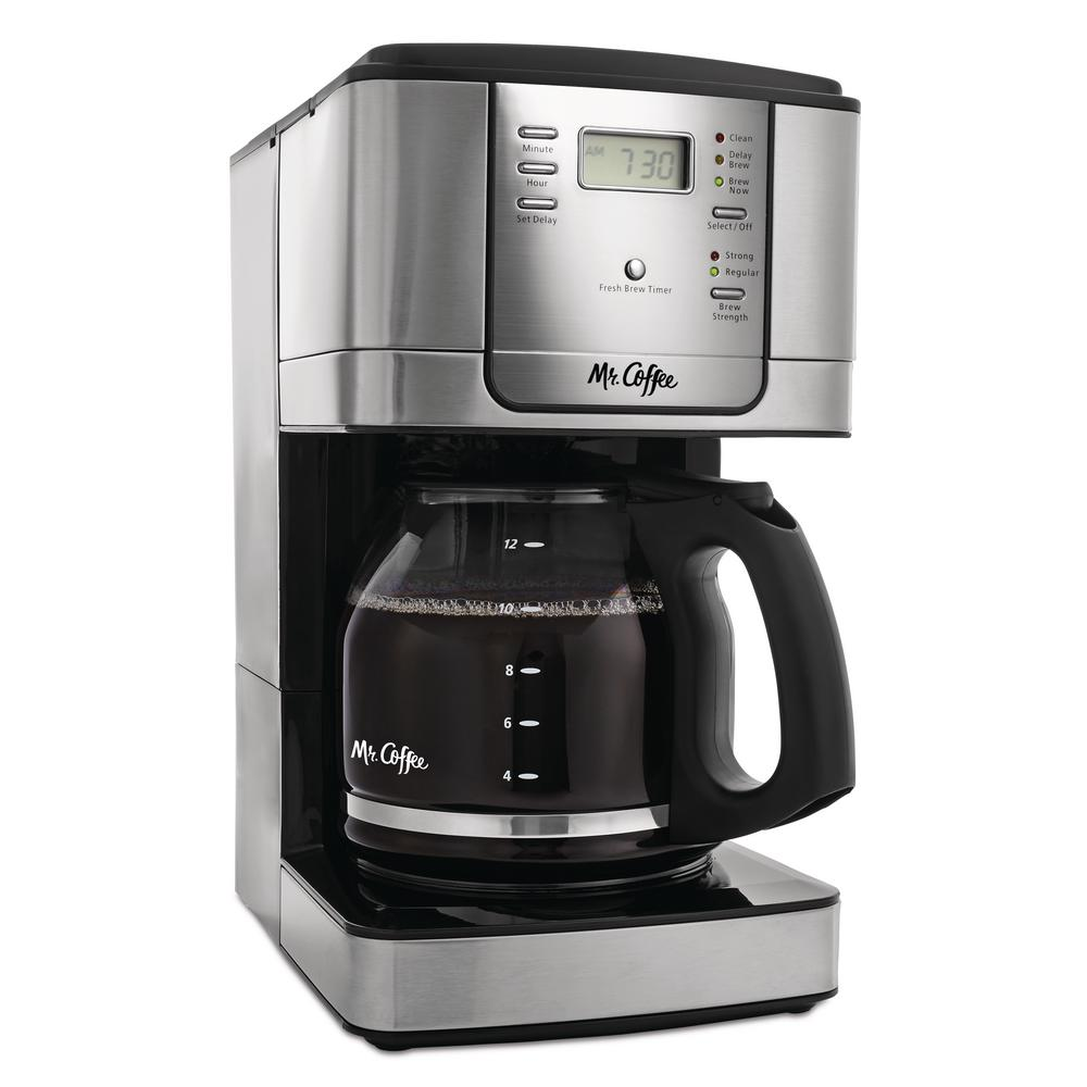 Mr coffee 12 cup programmable coffee maker jwx36 rb the Coffee maker brands