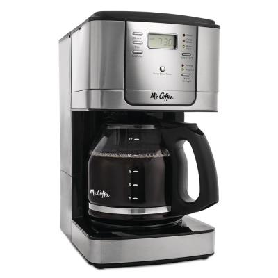 12-Cup Stainless Steel Drip Coffee Maker with Automatic Shut-Off