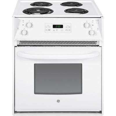 27 In. 3.0 Cu. Ft. Drop In Electric Range With Self  ...