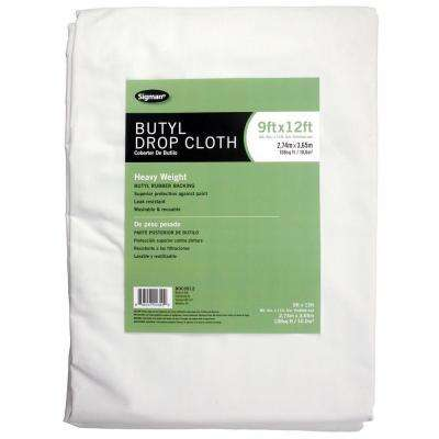 8 ft. 6 in. x 11 ft. 6 in. Butyl Drop Cloth
