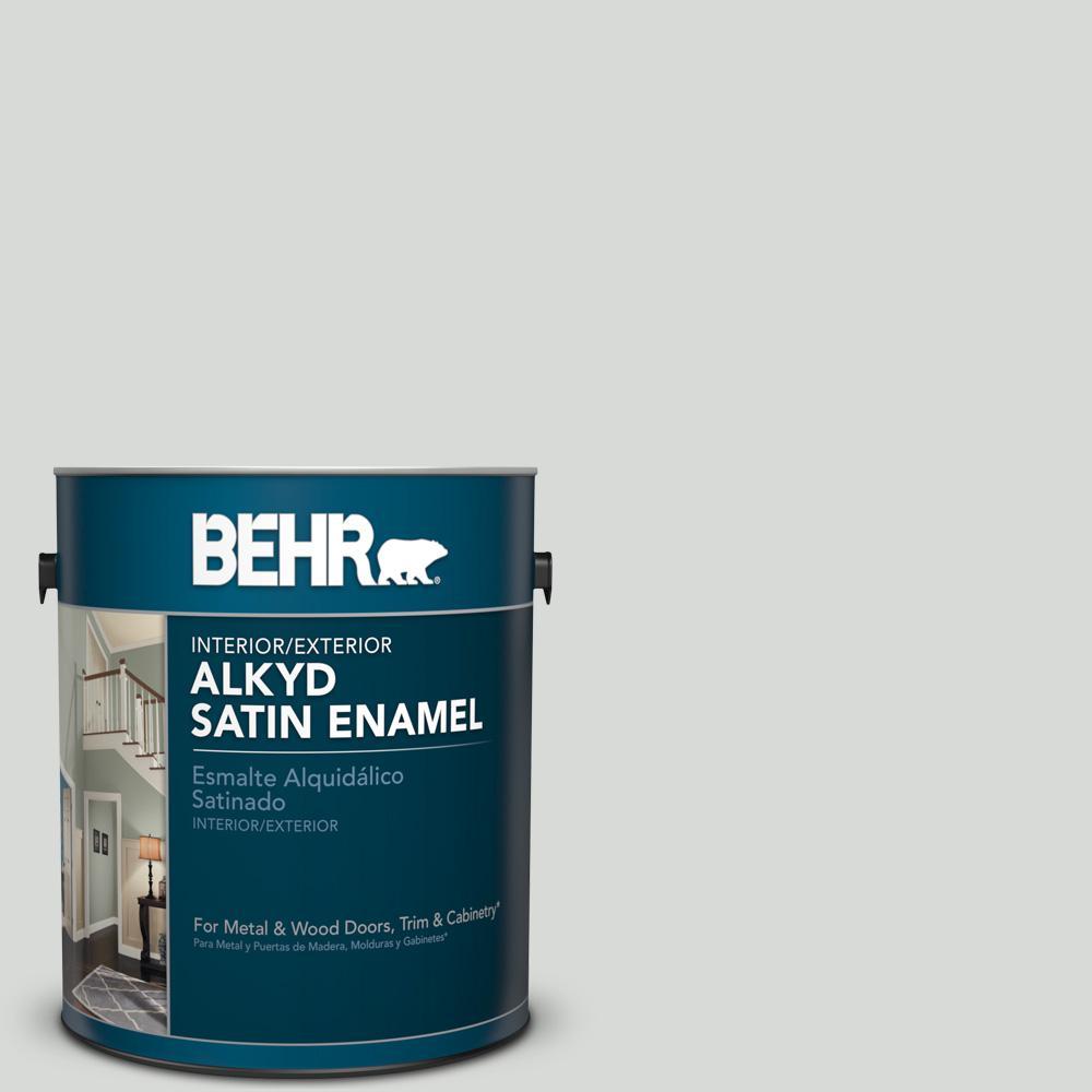 1 gal. #N460-1 Evening White Satin Enamel Alkyd Interior/Exterior Paint
