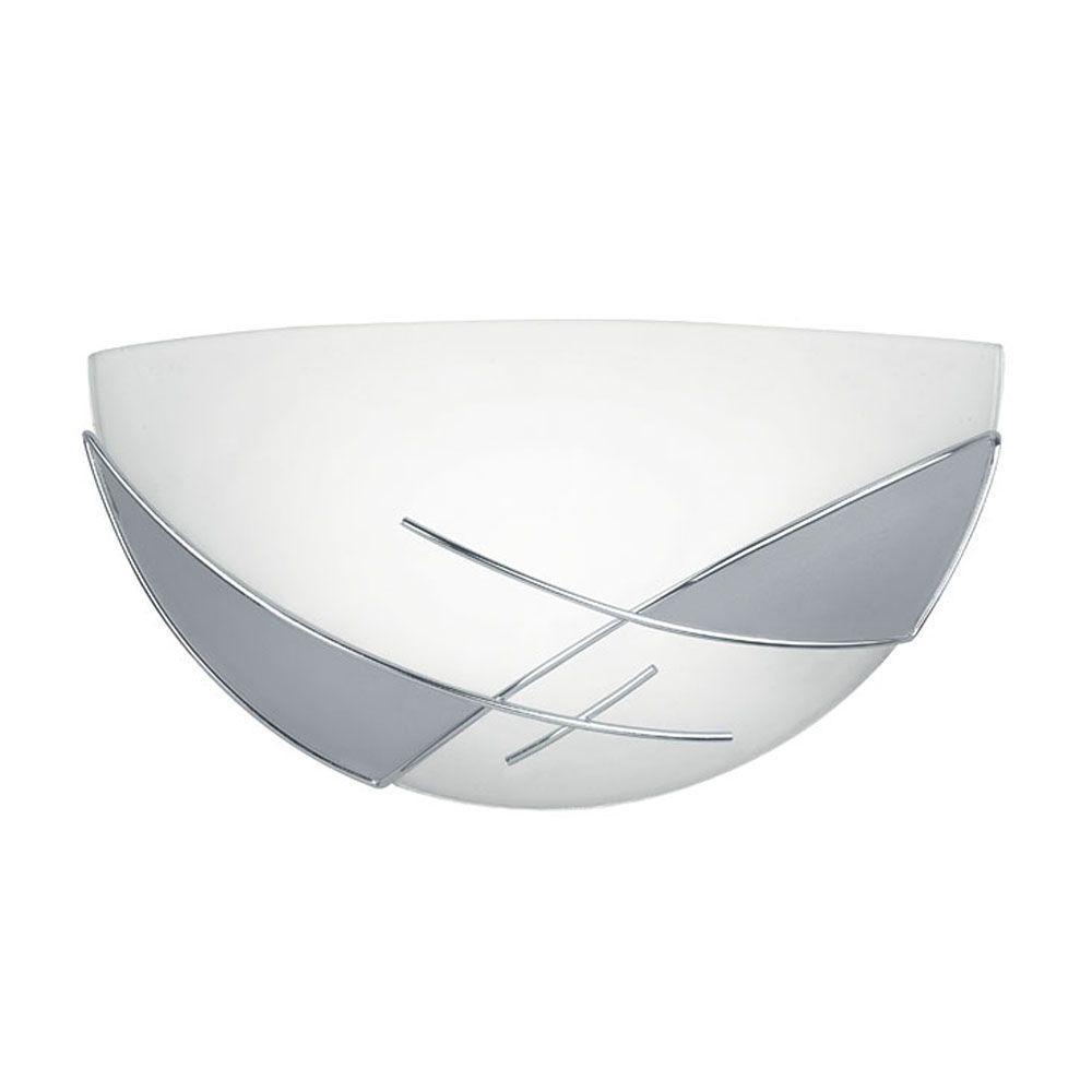 Raya 1-Light Chrome Satin Wall/Ceiling Light