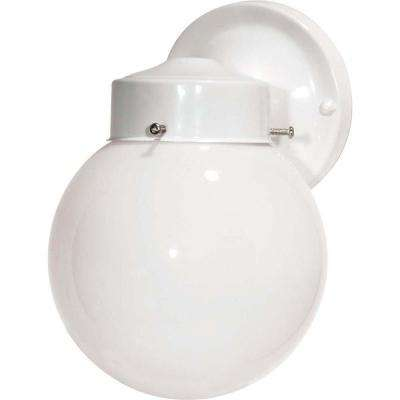 Tony 1-Light Gloss White Outdoor Wall Mount Sconce