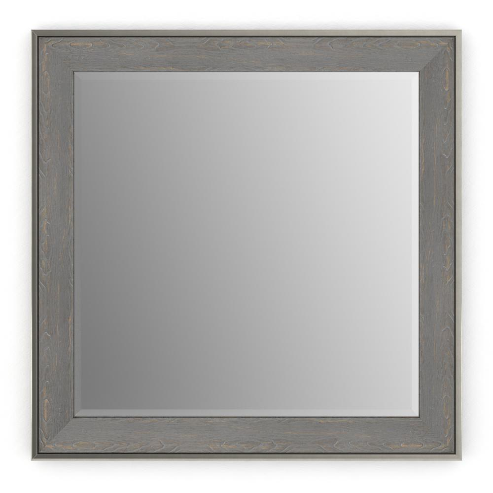 33 in. x 33 in. (L2) Square Framed Mirror with Deluxe