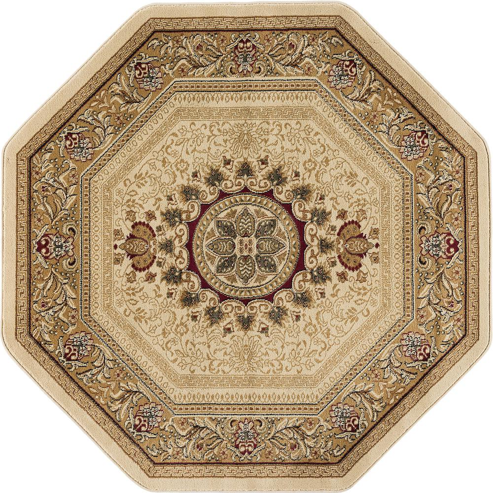 Tayse Rugs Sensation Beige 7 Ft 10 In Traditional