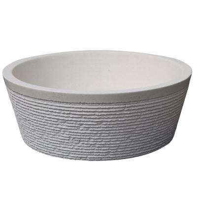 Brushed Natural Stone Vessel Sink in White