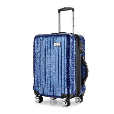 The Nile Collection 20 in. Blue Luggage