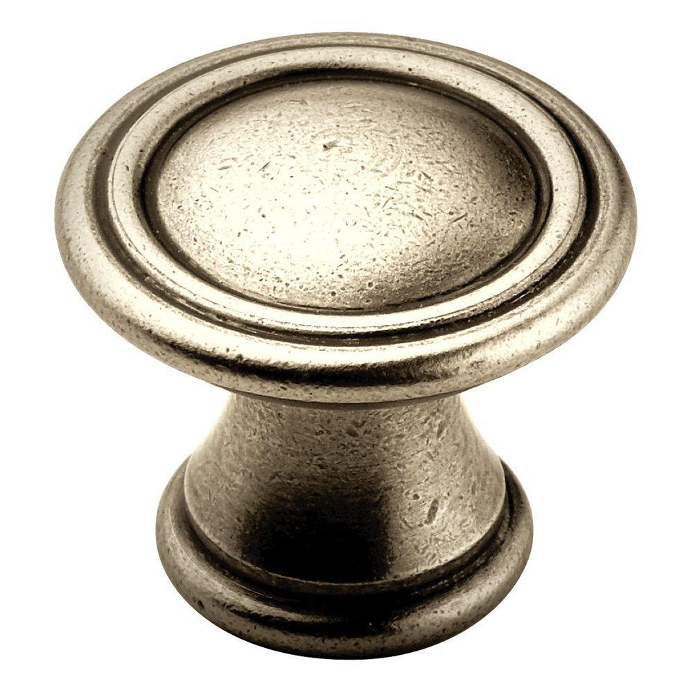 1-3/16 in. Antique Nickel Cabinet Knob