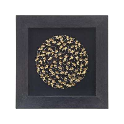Maidenhair 24 in. x 24 in. Wood And Metal Shadow Box Wall Art