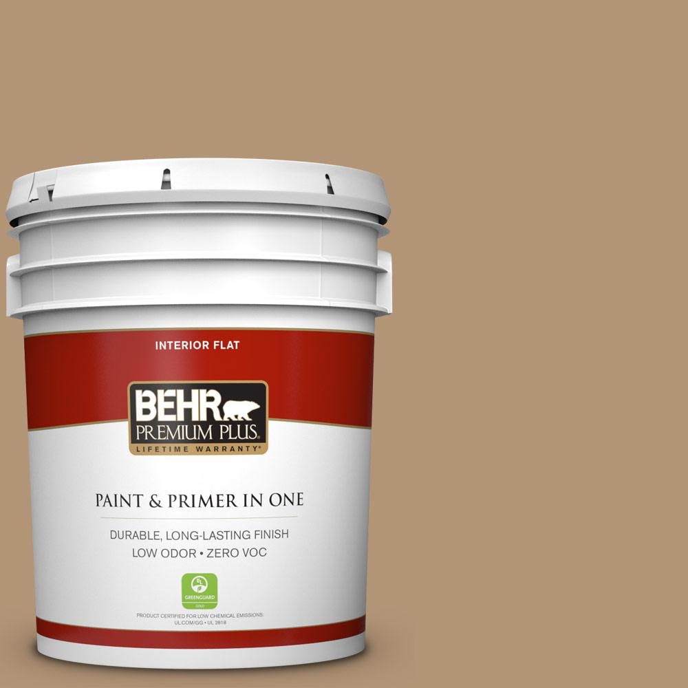 5 gal. #290F-4 Cliff Rock Zero VOC Flat Interior Paint