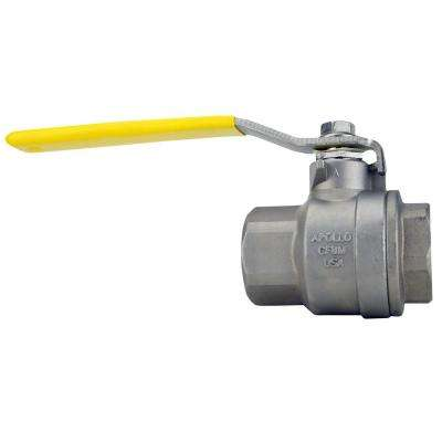 1-1/4 in. Stainless Steel FNPT x FNPT Full-Port Ball Valve