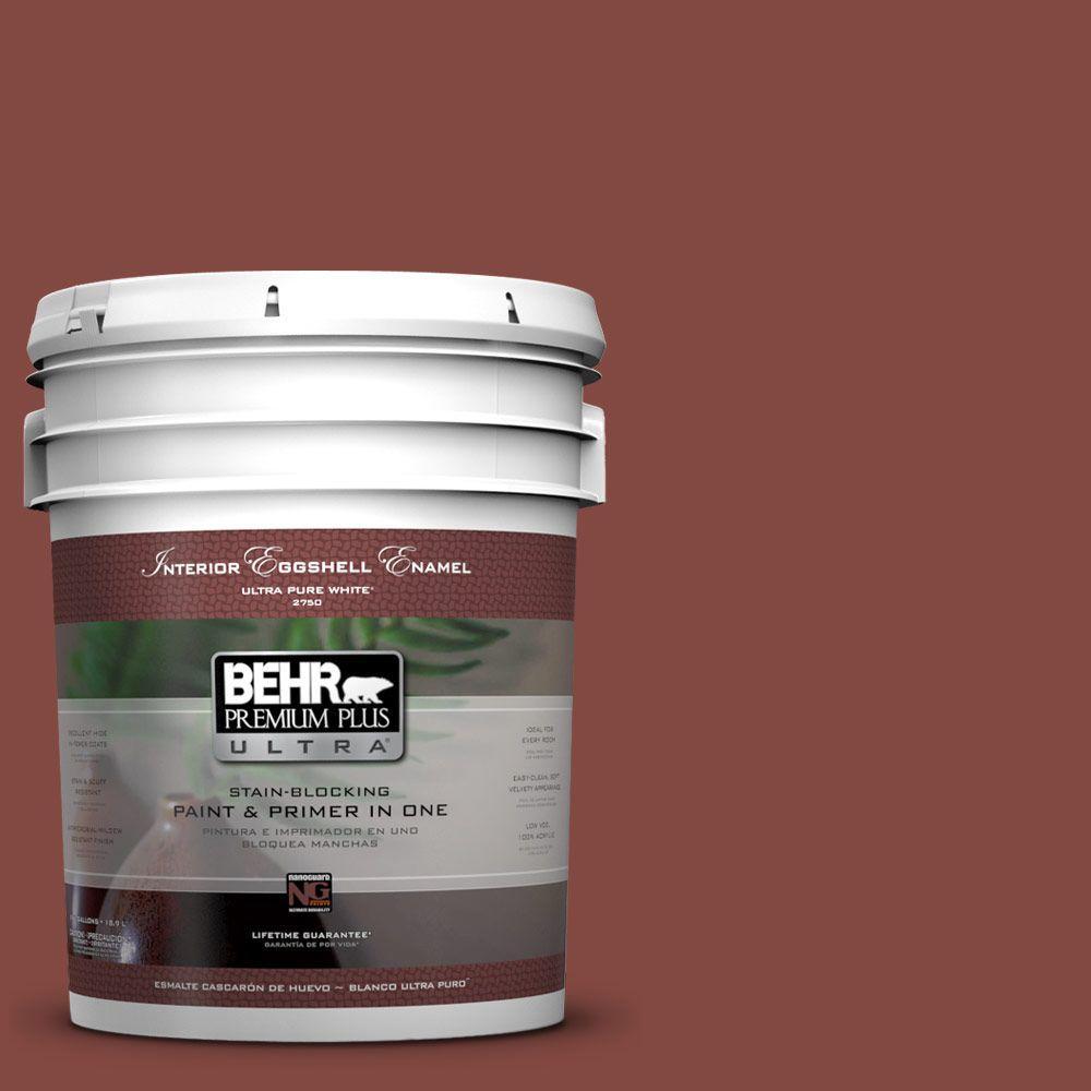 BEHR Premium Plus Ultra 5-gal. #S140-7 Deco Red Eggshell Enamel Interior Paint