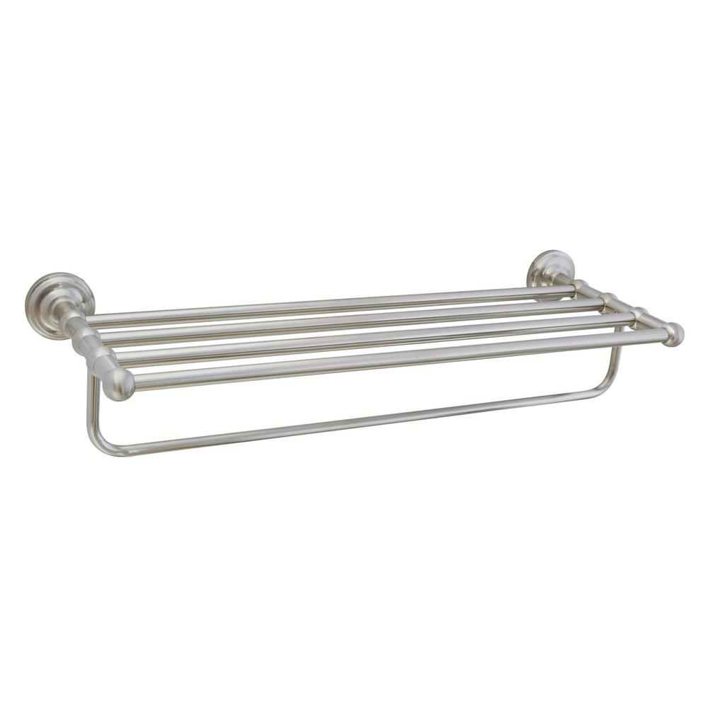 Modona Viola 24 In Wall Mounted Towel Rack Satin Nickel