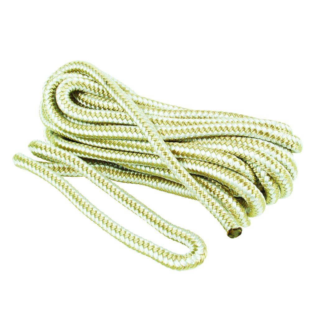 Everbilt 3/8 in  x 25 ft  Nylon Dock Line Double Braid Rope