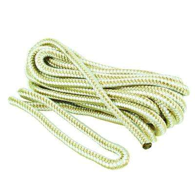 3/8 in. x 25 ft. Nylon Dock Line Double Braid Rope, White and Beige